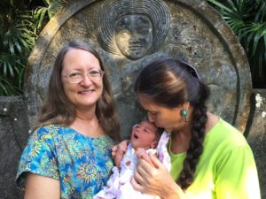 Deborah Flowers,  Ibu Robin Lim, hosts of Awakening Birth Bumi Sehat